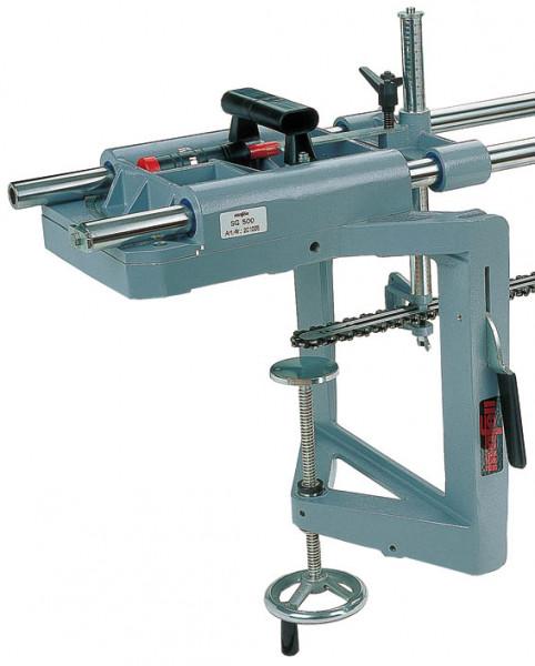 Spanneinrichtung maximale Spannbreite 300 mm (Abb. Spannvorrichtung an SG 400 montiert)